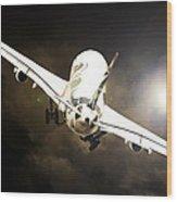 A340 Takeoff Wood Print