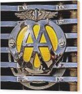 Aa Mu Emblem Wood Print