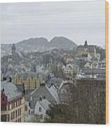Aalesund From Above Wood Print