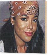Aaliyah Wood Print