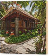 Aaramu Spa Hideaway In Tropical Garden. Maldives Wood Print