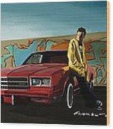 Aaron Paul as Jesse Pinkman @ TV serie Breaking Bad Wood Print