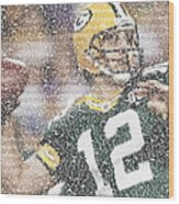 Aaron Rodgers Quotes Mosaic Wood Print