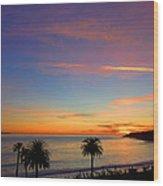 Abalone Cove Sunset Wood Print