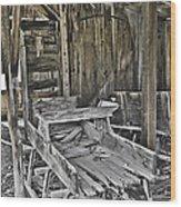 Abandon Barn Wood Print