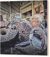 Abandon Destruction Wood Print