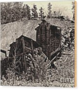 Abandon Montana Mine Wood Print