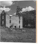 Abandon Stone House 3  Wood Print