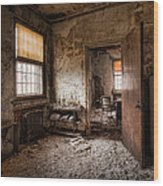 Abandoned Asylum - Haunting Images - What Once Was Wood Print by Gary Heller