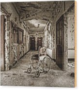Abandoned Asylums - What Has Become Wood Print by Gary Heller