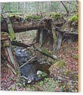 Abandoned Boston And Maine Railroad Timber Bridge - New Hampshire Usa Wood Print