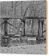 Abandoned Bridge Wood Print
