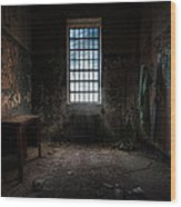 Abandoned Building - Old Room - Room With A Desk Wood Print