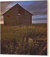 Abandoned Building, Saskatchewans Wood Print