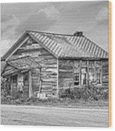 Abandoned Cabin Wood Print