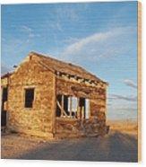 Abandoned - California Desert Wood Print