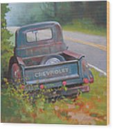 Abandoned Chevy Wood Print