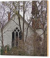 Abandoned Church Wood Print
