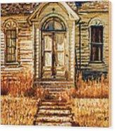 Abandoned Church Wood Print