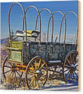 Abandoned Covered Wagon Wood Print