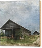 Abandoned Farm Home - Kansas Wood Print
