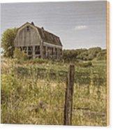 Abandoned Farm Wood Print