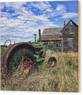 Abandoned Farm Saskatchewan Canada Wood Print