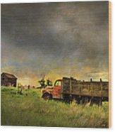 Abandoned Farm Truck Wood Print
