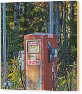 Abandoned Gas Pump Wood Print