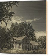 Abandoned Homestead Wood Print