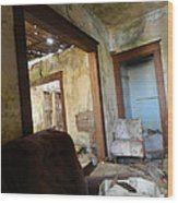 Abandoned Homestead Series Decay Wood Print