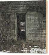 Abandoned House - Enter House On The Hill Wood Print