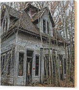 Abandoned House In New Hampshire Wood Print