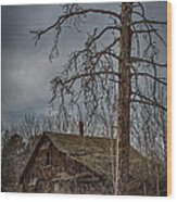 Abandoned House Wood Print