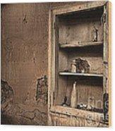 Abandoned Kitchen Cabinet B Wood Print
