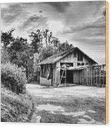 Abandoned La Zoo Dr's  Barn House Wood Print