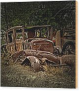 Abandoned Model A Shell Wood Print