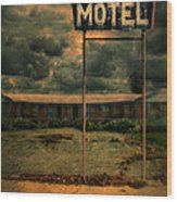 Abandoned Motel Wood Print