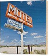 Abandoned Motel Wood Print