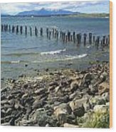 Abandoned Old Pier In Puerto Natales Chile Wood Print