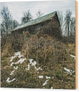 Abandoned Places - Old House - House On The Hill Wood Print