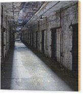 Abandoned Prison Wood Print