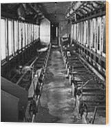 Abandoned Railcar Wood Print