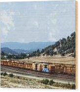 Abandoned Transportation Wood Print