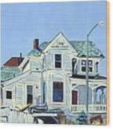 Abandoned Victorian In Oakland  Wood Print