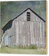 Abandoned Vintage Barn In Illinois Wood Print