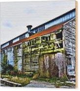 Abandoned Warehouse On The Swinomish Channel - La Conner Washington Wood Print