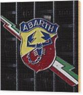 Abarth Emblem Wood Print
