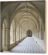 Abbaye De Frontevraud  Cross Coat Wood Print