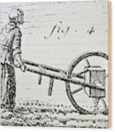 Abbe Soumille's Seed Drill Wood Print